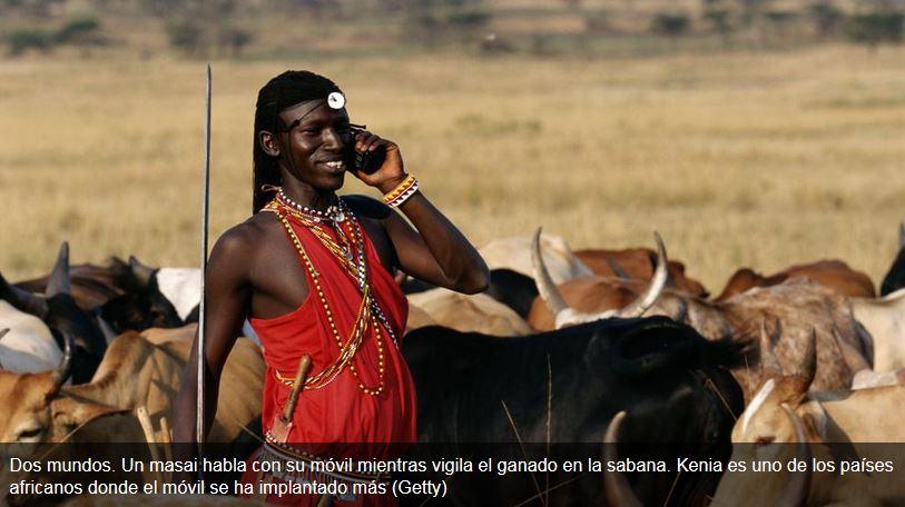 África se engancha al móvil.